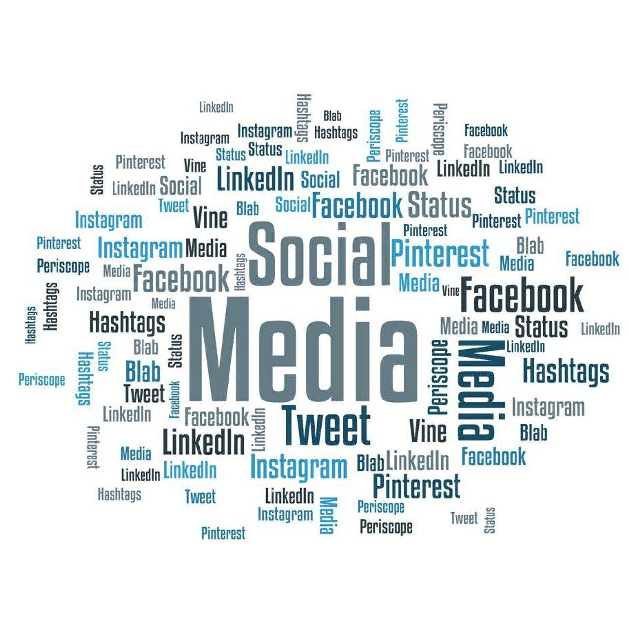 Social Media Wolke